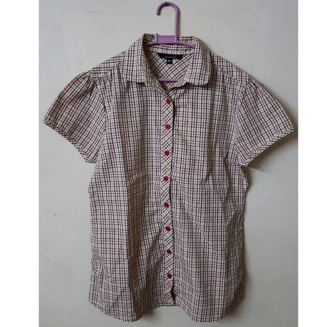 (Pre-loved) Tiara Checkered Shortsleeves Polo