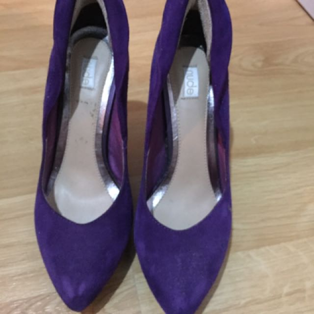 Purple Pump Shoes