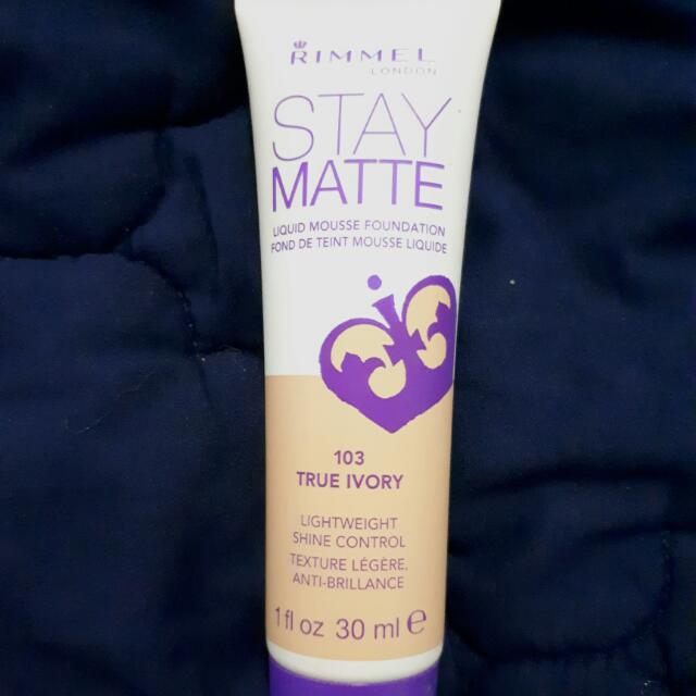 Rimmel Stay Matte Liquid Mousse Foundation (True Ivory - 103)