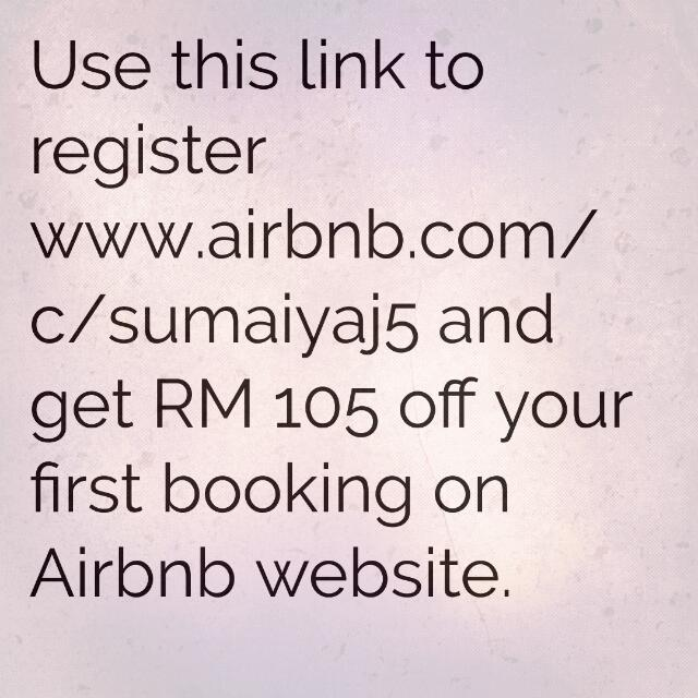 RM 105 off on Airbnb