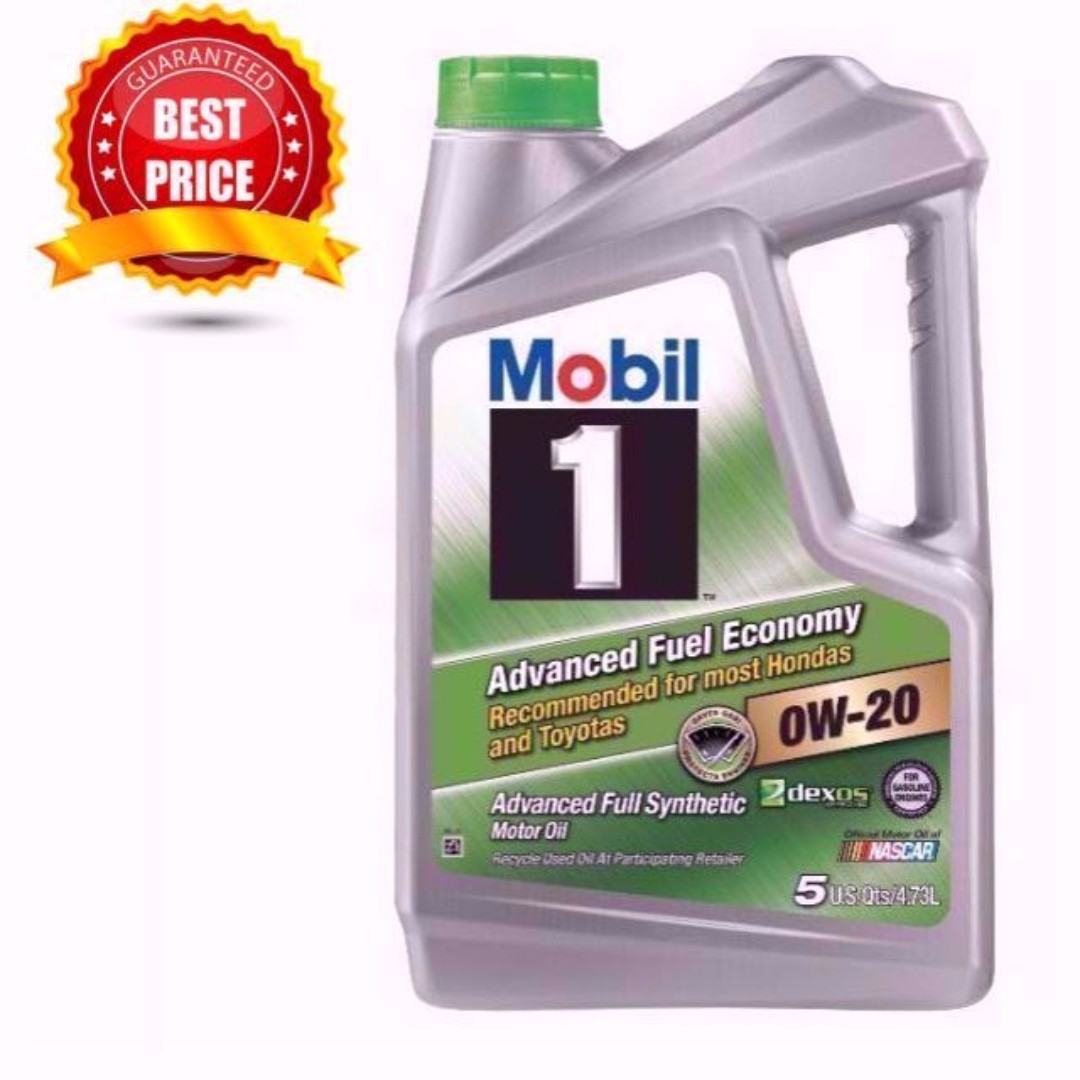 Mobil 1 Advanced Fuel Economy Full Synthetic Engine Oil 0W-20 5 Qts/4.73L
