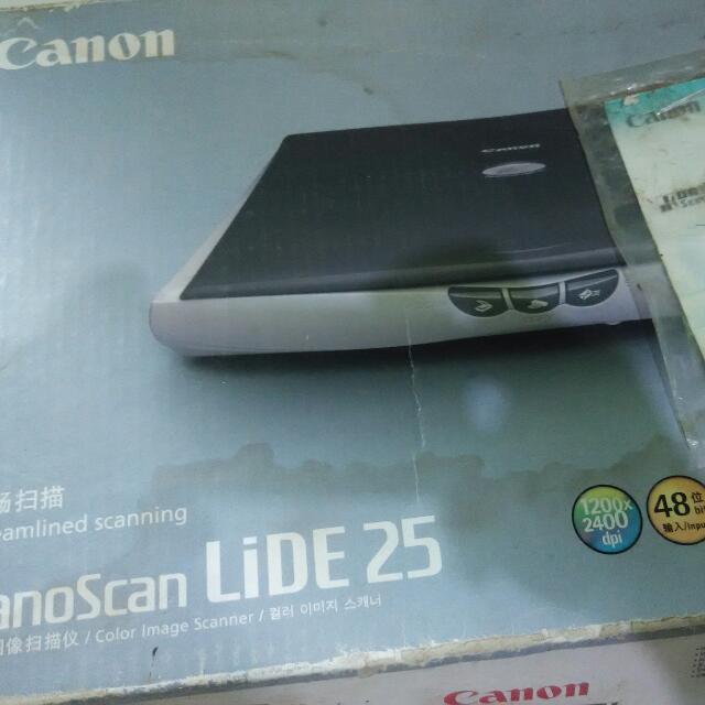 scaner canon lide 25