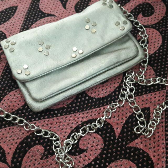 Silver Sling Pouch
