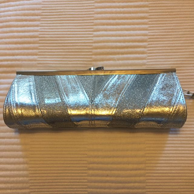 Silver, Sparkly Clutch
