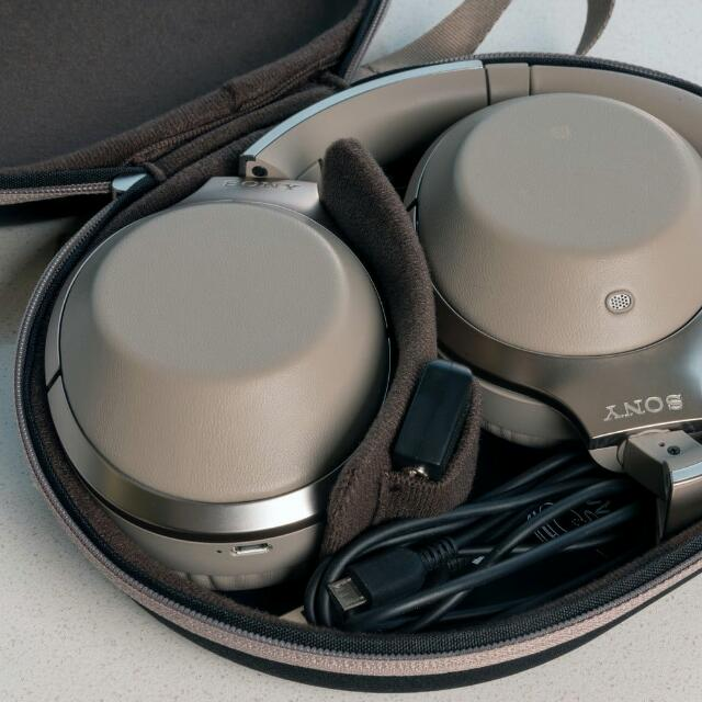 Sony MDR-1000X Beige Bluetooth Over-Ear Noise Cancelling Headphones MDR1000x, Electronics,