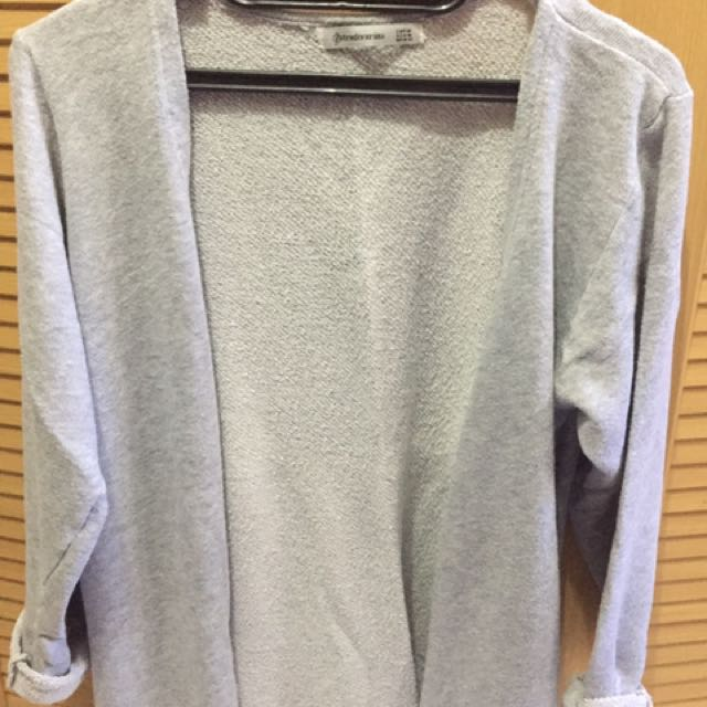 Stradivarius Grey Cardigan