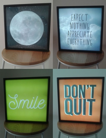 swappable slide light box furniture home decor on carousell
