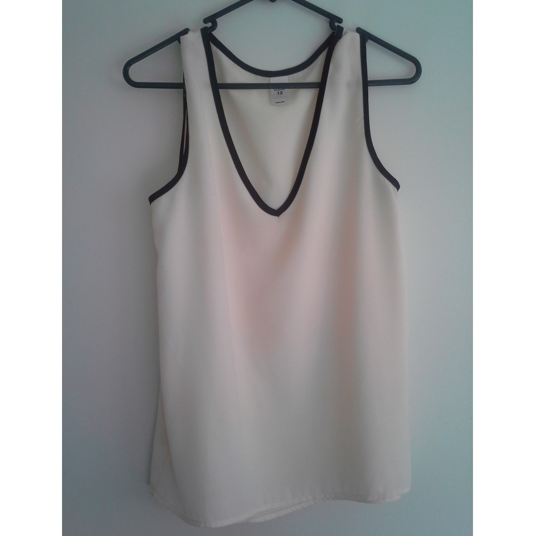 SZ12 Cream Singlet with Black Trim...