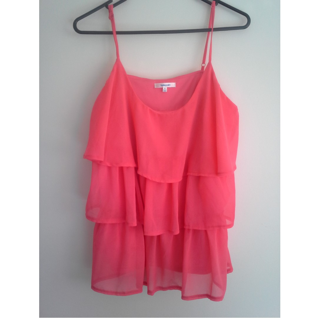 SZ12 Peach Singlet Top