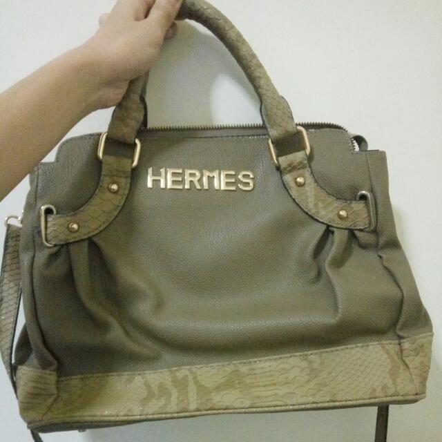 Tas HERMES croco leather
