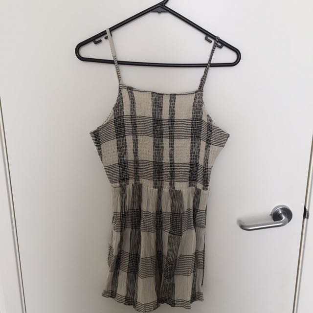 Topshop Checkered Romper