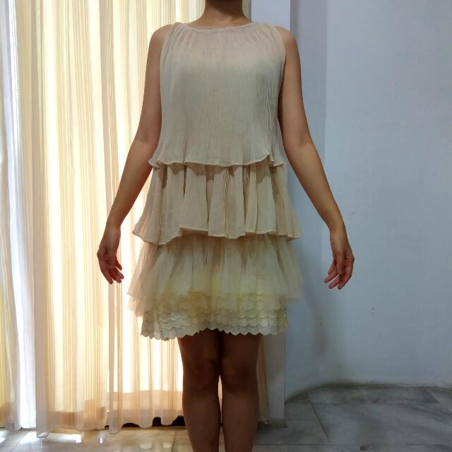 Two Piece frill dress