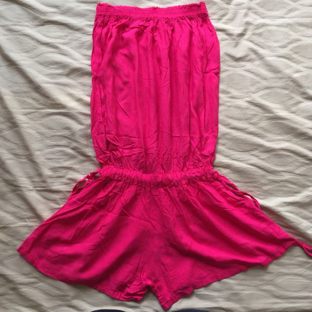 Unbranded Strapless Pink Stretchy Overall