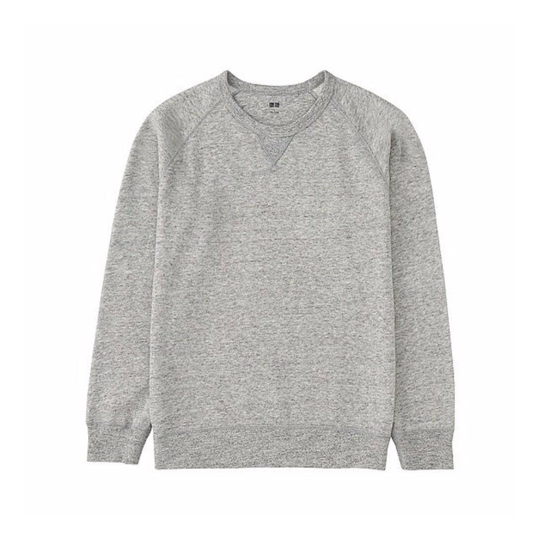 Uniqlo 灰色 大學T 淺灰色 麻灰色 保暖 大學T恤 大學踢 M號 可參考 GAP、LEVIS