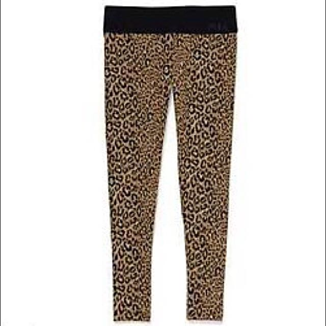 VS Pink Leopard Leggings