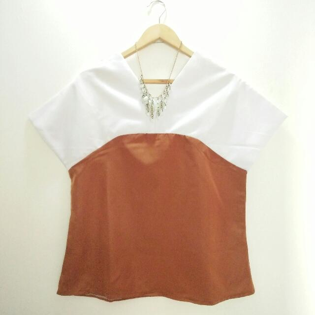 White Brown Top