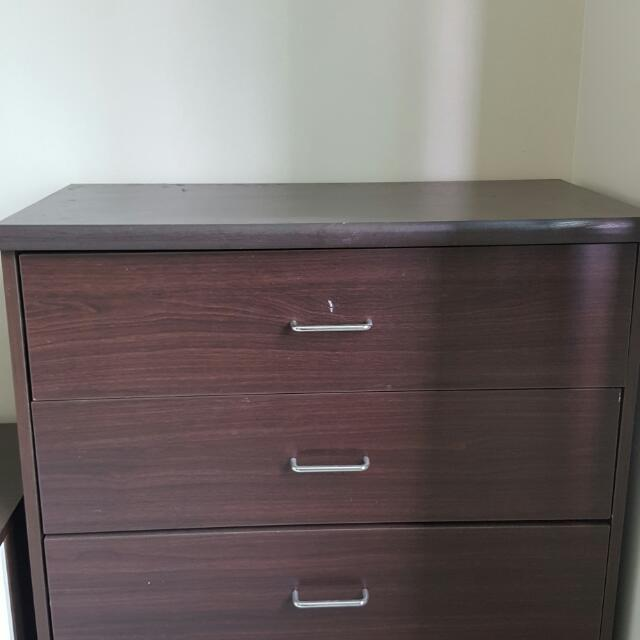 Wooden 3 Drawer Cabinet