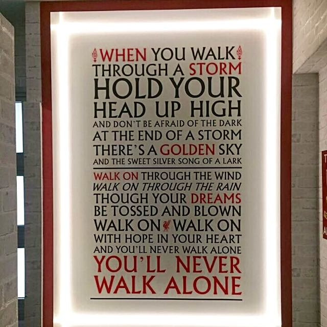 you 39 ll never walk alone anthem lyrics vinyl liverpool fc sticker furniture home decor on. Black Bedroom Furniture Sets. Home Design Ideas