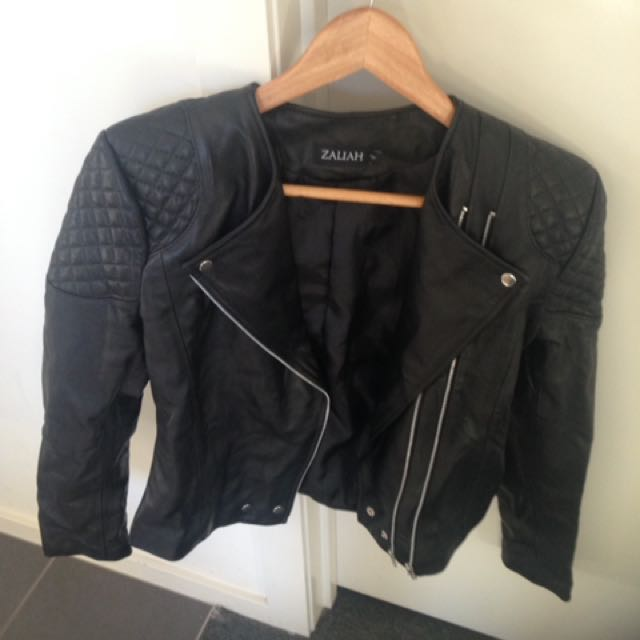 Zaliah One And Only Leather Jacket Size 4 As Seen On Celebrities
