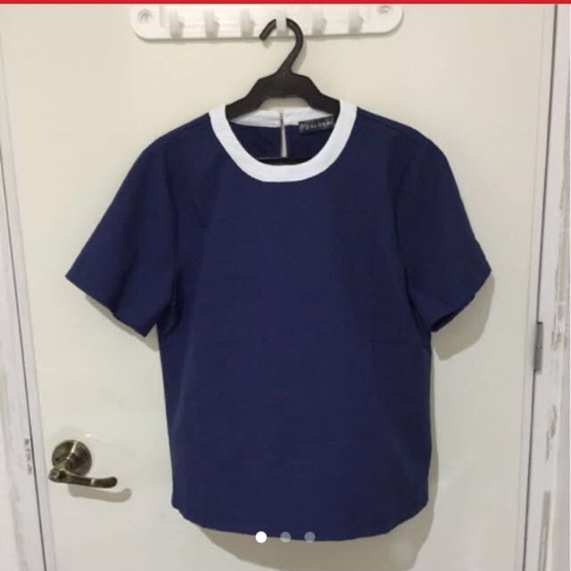 Zalora Blue Top