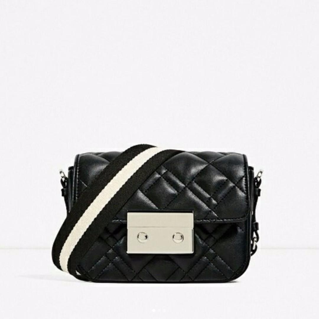 Zara BW Stripes Slingbag