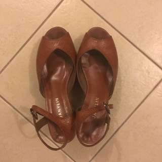 SALE !!! Authentic Janylin leather Shoes 7 Like New
