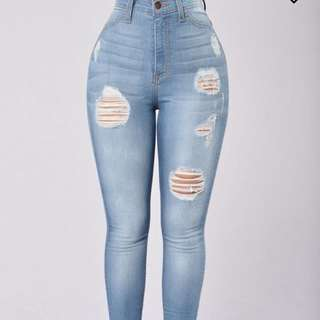High Waisted Fashion Nova Jeans