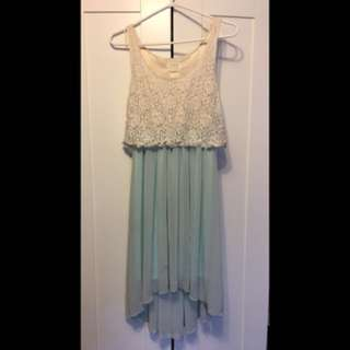 Loft 82 Lace Top Mint Dress