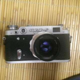 蘇聯FED 2底片機 加一顆鏡頭