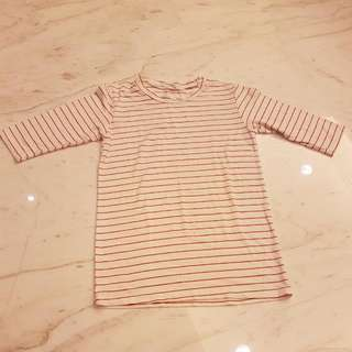 French Red Stripes Tee
