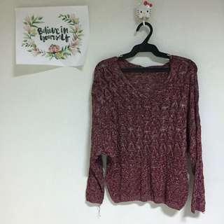 Bangkok knitted maroon