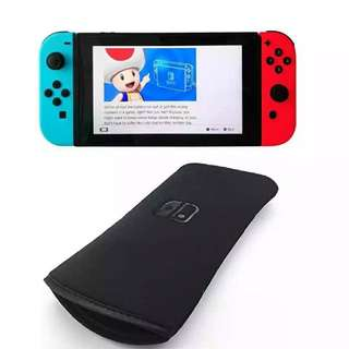 [包郵] 任天堂Switch保護套 軟套保護套 海綿包 平口 輕便版 黑色 現貨