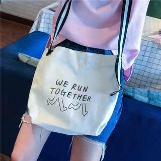🚚 設計款帆布包 購物包 肩背包 側背包 手提袋 帆布包 書包 包包 女包