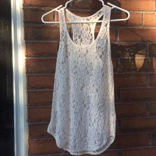 Wilfred Silk Lace White Camisole