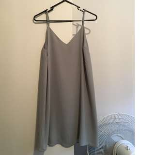 khaki dress, size xs
