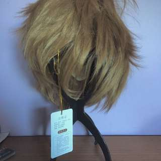 Short Light Brown Unstyled Cosplay Wig
