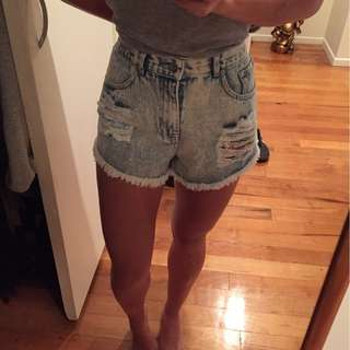 Brand new The Fifth denim shorts