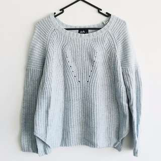 Dotti - Size XS - Light Blue and White Marble Sweater/Jumper