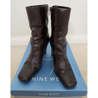 Nine West Leather Brown Boots Size 6