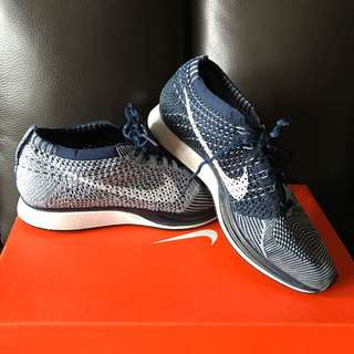 Nike Unisex Flyknit Racer Blue Tint Limited Color size 38.5 (For girls / women)