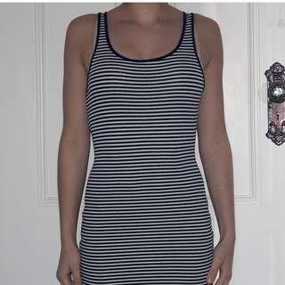 Tight Stripped Midi Dress