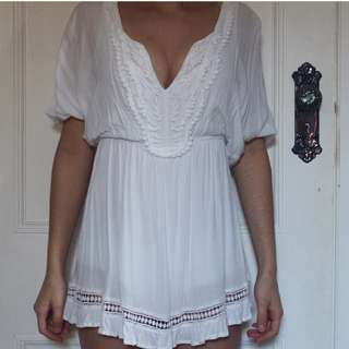 Beautiful, Lacy White Playsuit
