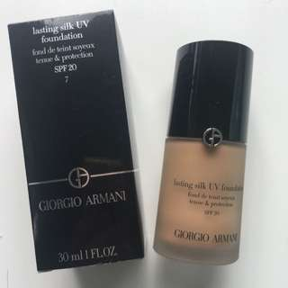 Giorgio Armani Lasting Silk UV Foundation Shade 7