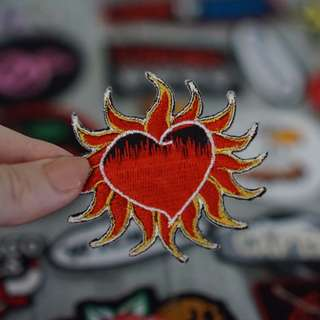 Flamin heart patch