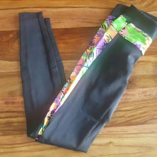 Black Milk Scribble Ninja Pants Size XS