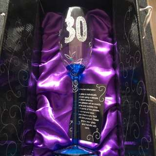 Glass With Class Champagne Flute For 30th