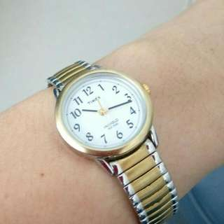 (authentic) timex indiglo women two tone..