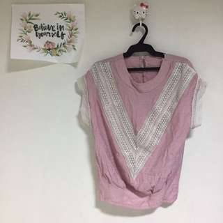 Laced pink Top