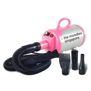 Silver-Pink 2800w High Power Pet Blower Quick Dry 10 Mins. With Warranty. Free Next Day Delivery.
