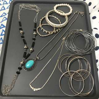 Bangles and Necklace